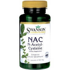 Swanson NAC N-Acetyl-Cysteina 600mg 100kaps - suplement diety