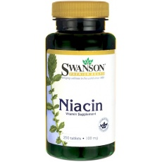 Swanson Niacyna 100mg 250tabs - suplement diety