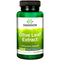 Swanson Olive Leaf Extract 750mg 60kaps Liść Oliwny - suplement diety