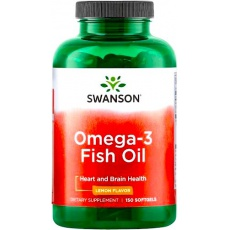 Swanson Omega-3 smak cytrynowy 150kaps - suplement diety