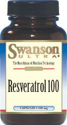 Swanson Resveratrol 100mg 30kaps Resweratrol - suplement diety