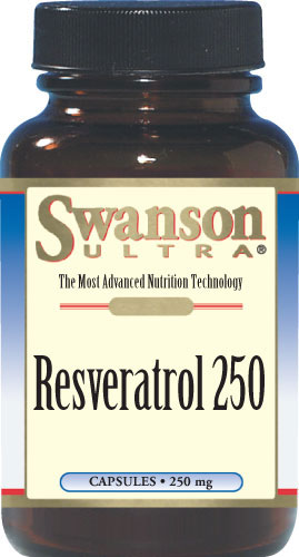 Swanson Resveratrol 250mg 30kaps Resweratrol - suplement diety