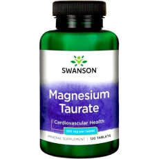 Swanson Taurynian Magnezu 100mg 120tab - suplement diety