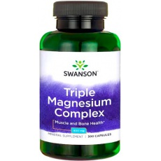 Swanson Triple Magnesium Complex 400mg 300kaps Magnez Trzy Formy- suplement diety