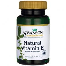 Swanson Witamina E naturalna 200UI 100 softgels - suplement diety